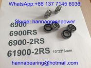 6900RS / 61900-2RS / 6900-2RS Automotive Bearings , Deep Groove Bearing with Rubber Seals