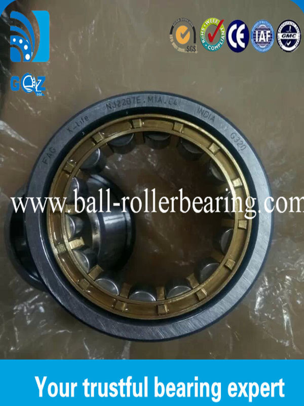 Small NJ2207 E. M1A.C4 Cylindrical Roller Bearing 69.5 KN Basic Dynamic Load Rating