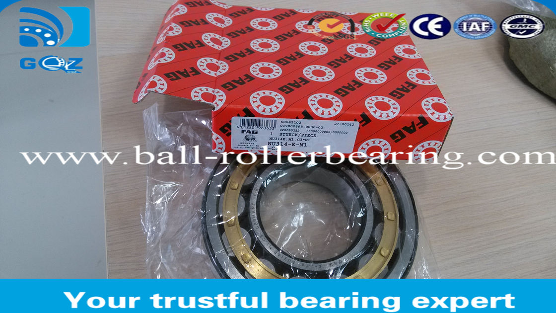 Gcr15 Cylindrical Double Row Roller Bearings NU314 E-M1 Wear Resistant