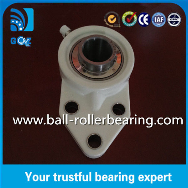 UCFB205 Three Bolt Pillar Block Bearing With Flange , Pillow Block Linear Bearings