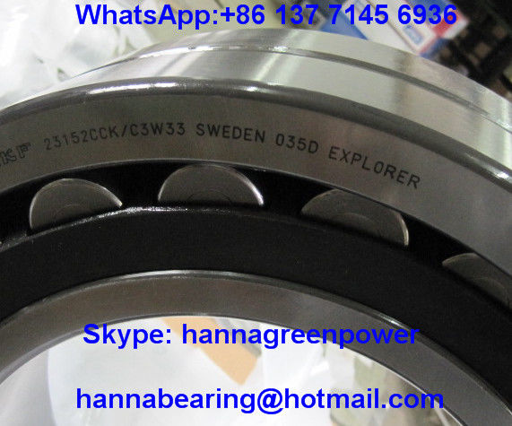 Steel Cage 23152CC/W33 Spherical Roller Bearing 23152CCK/W33 260x440x144mm