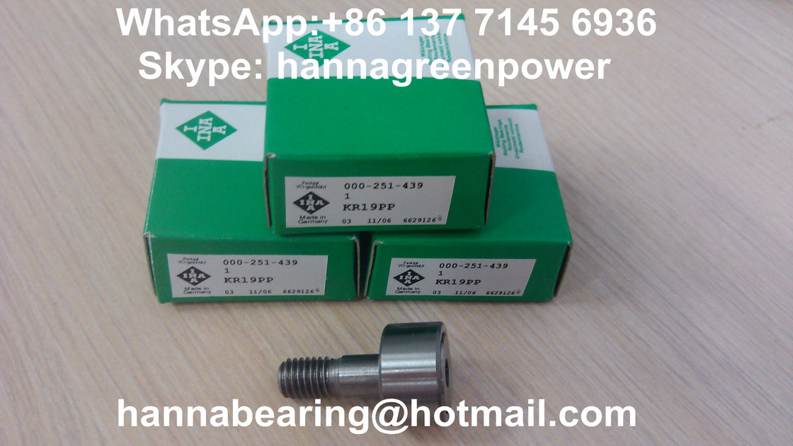 KR19PP Stud Type Track Roller Bearing With Hexagonal Socket 19*8*32 mm