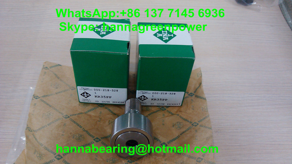 KR35PP Stud Cam Roller Follower / Roller Cam Bearings With Hexagonal Socket ISO90001