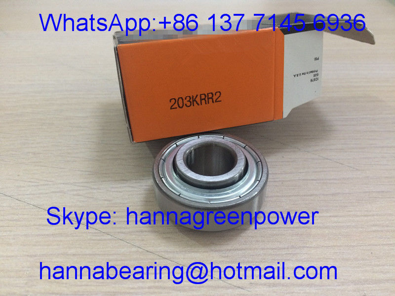 203KRR2 Metal Shielded Insert Ball Bearing / Agricultural Bearing 16.256*40*18.288 / 12mm