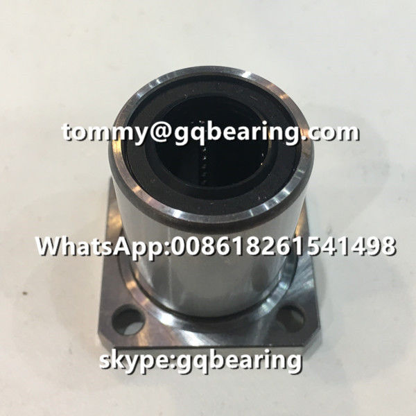 Gcr15 steel LMK16UU Square type Rubber Sealed Flange Linear Ball Bearing