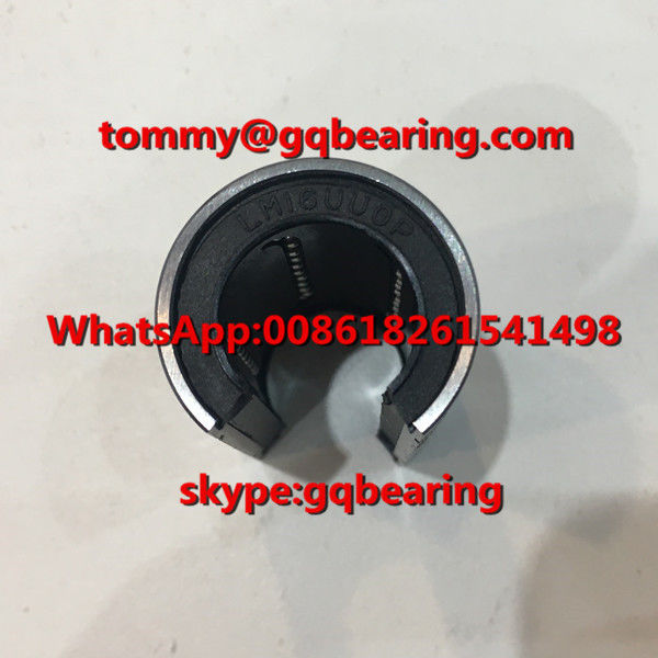 Chrome Steel Material LM16UUOP Open Type Linear Ball Bearing Rubber Sealed Linear Bushing