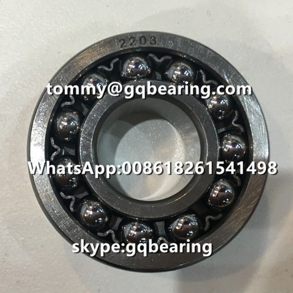 Chrome Steel Material 2203 Steel Cage Double Row Self-aligning Ball Bearing 17x40x16mm