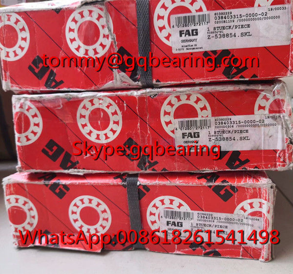 FAG 538854 Double Row Angular Contact Ball Bearing 309515D Bearing with Split Inner Ring