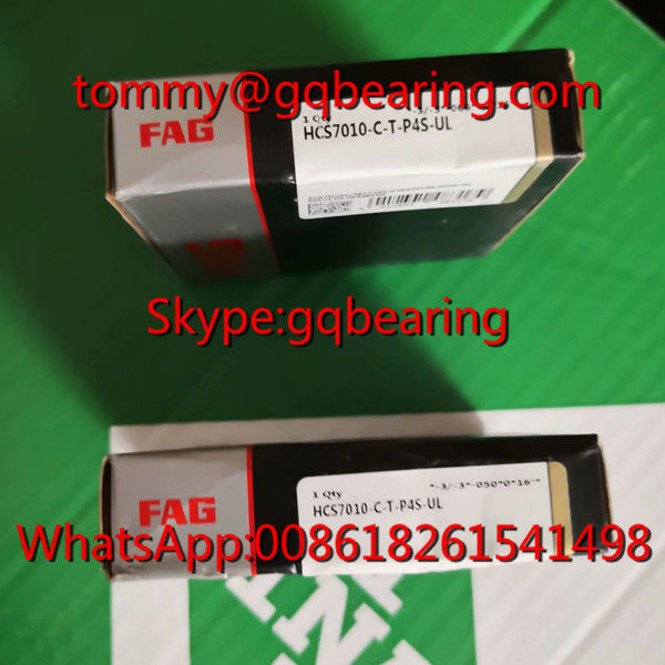 Ceramic Material Balls FAG HCS7010- C- T- P4S- UL High Speed Angular Contact Ball Bearing